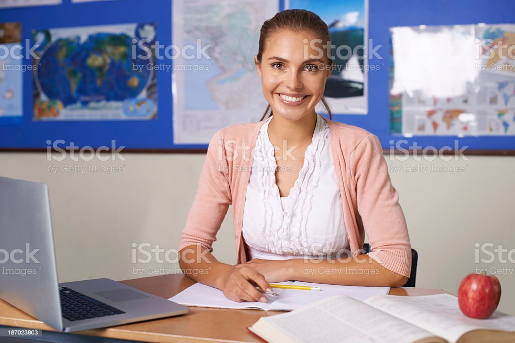 She shapes the leaders of tomorrow royalty-free stock photo