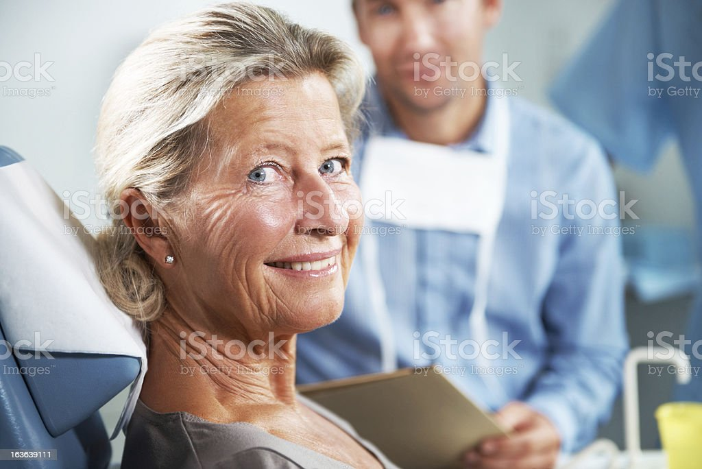 She shedules an appointment every six months stock photo