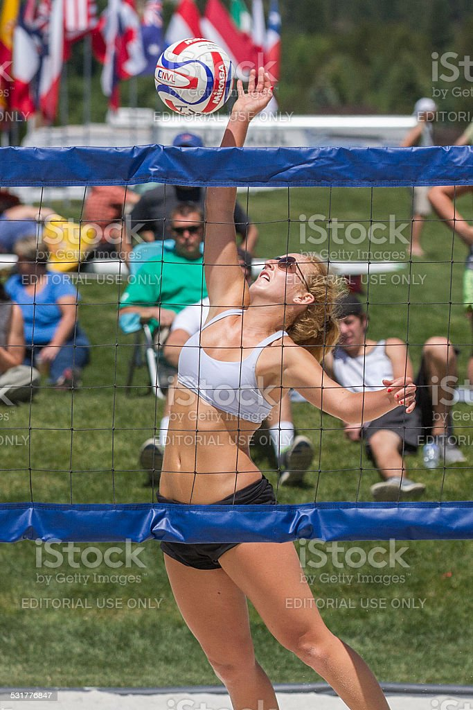 She spikes stock photo