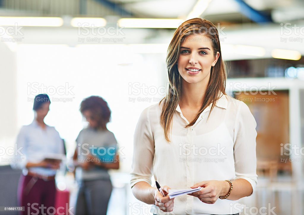 She stands out from the rest stock photo