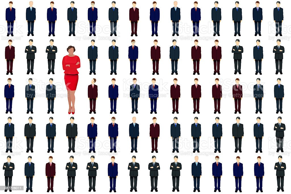 She stands out (red) stock photo