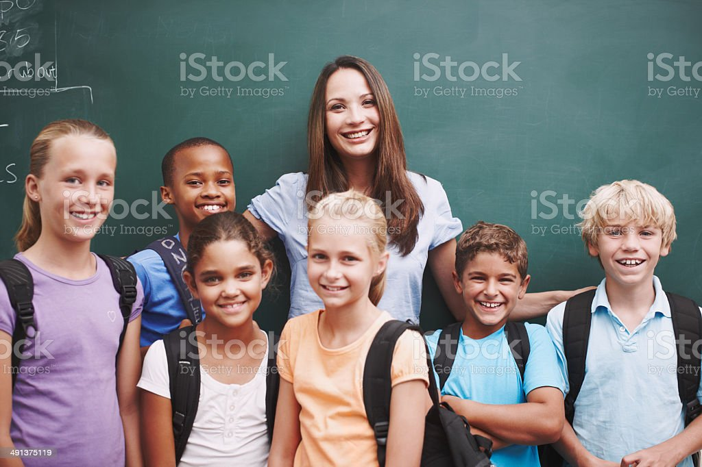 She strives to make her classroom a fun place stock photo