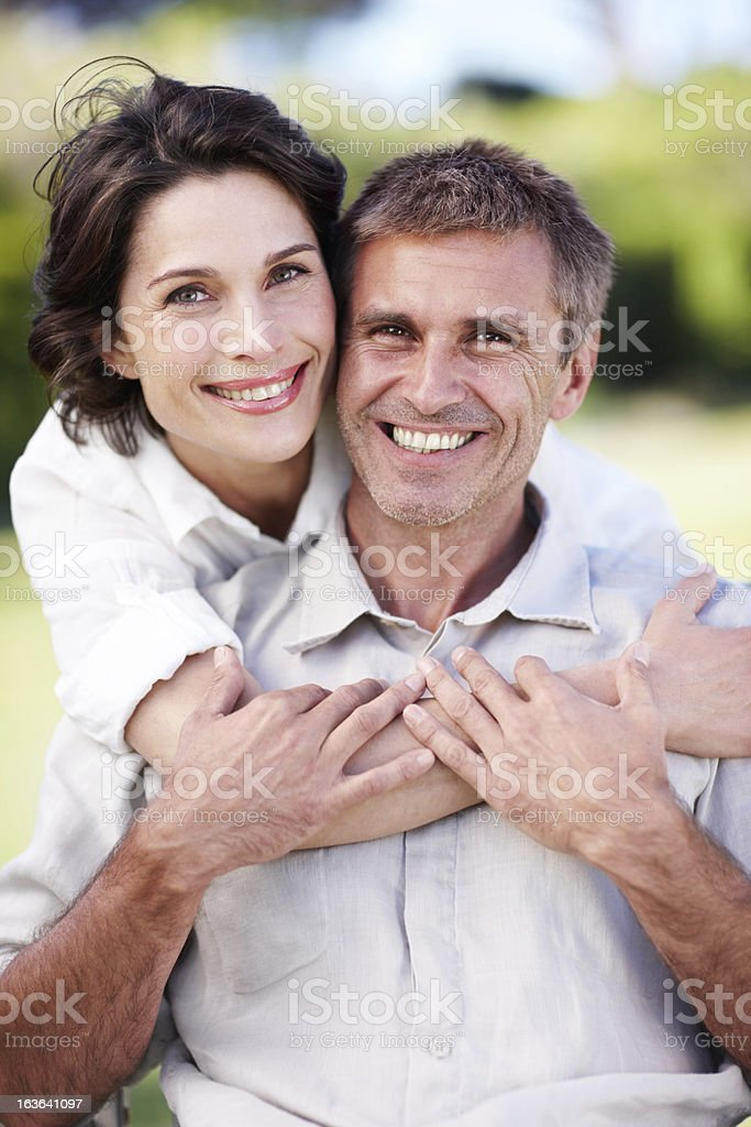 She supports him every step of the way royalty-free stock photo