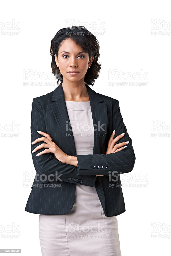 She takes business very seriously stock photo