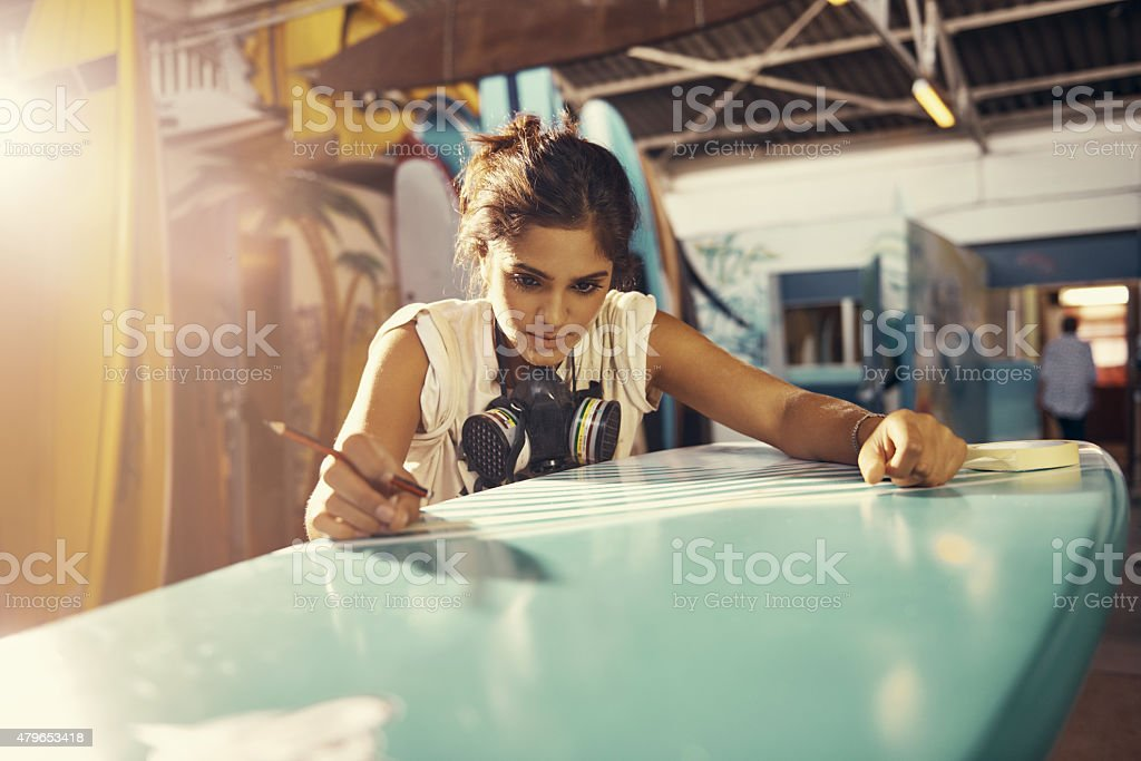 She takes her craft very seriously stock photo