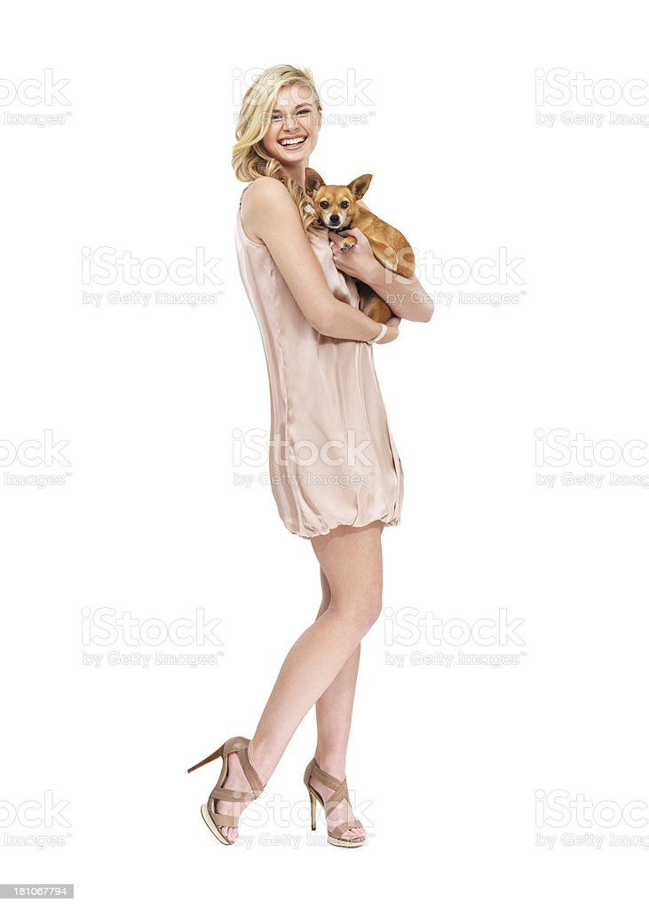 She takes him everywhere with her stock photo