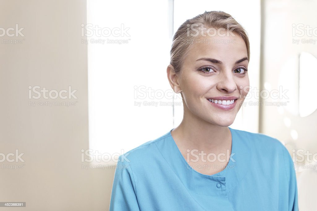 She takes pride in her profession royalty-free stock photo