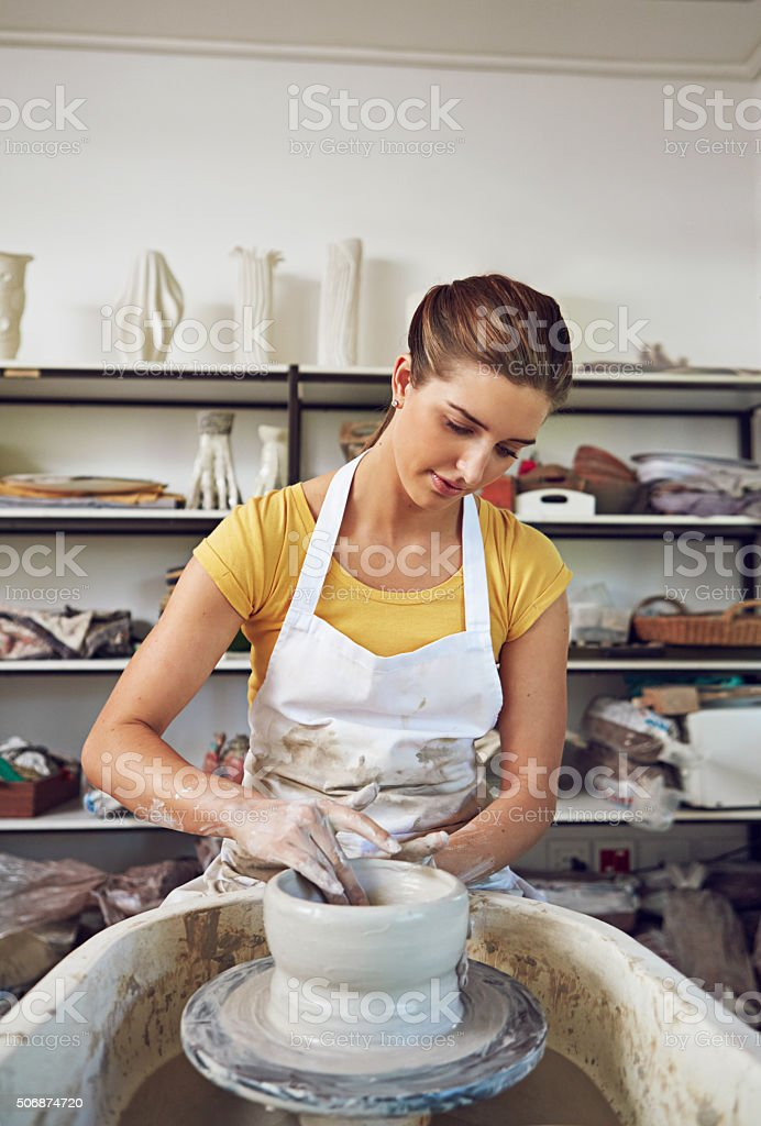 She turned her hobby into a career stock photo