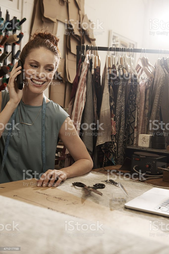 She turned my hobby into a career stock photo
