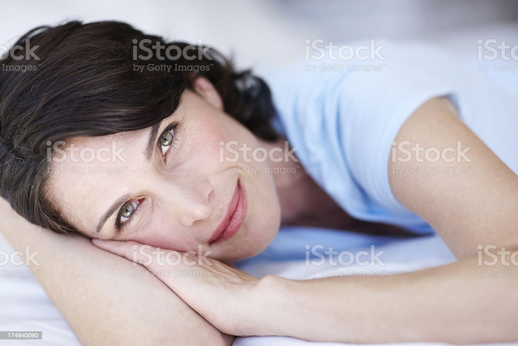 She wakes up looking like this royalty-free stock photo