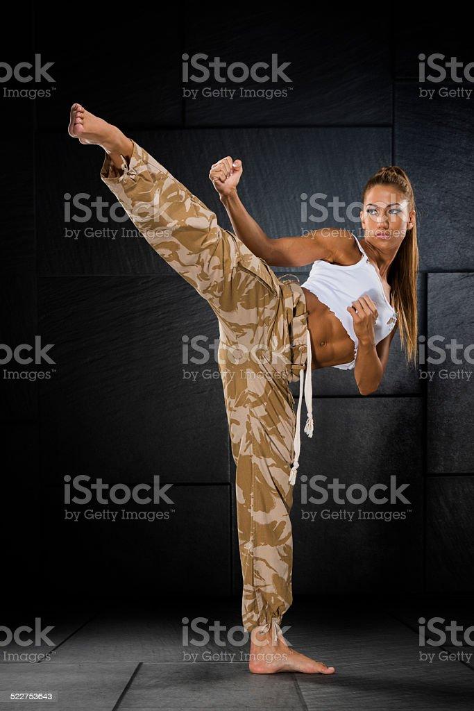 She Warrior stock photo