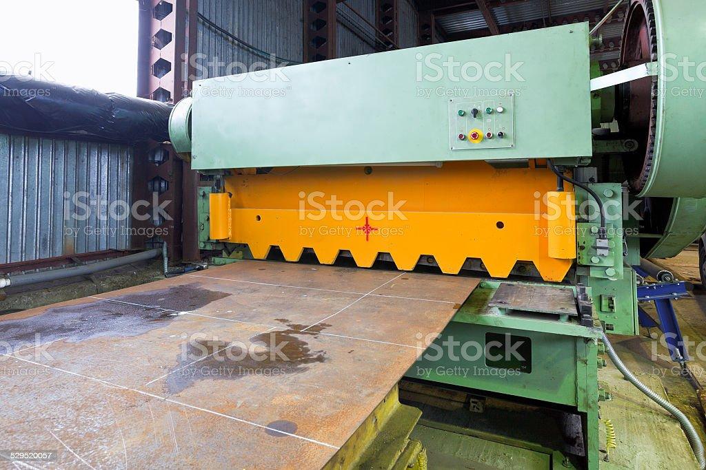 shear cutting machine for metal sheets stock photo