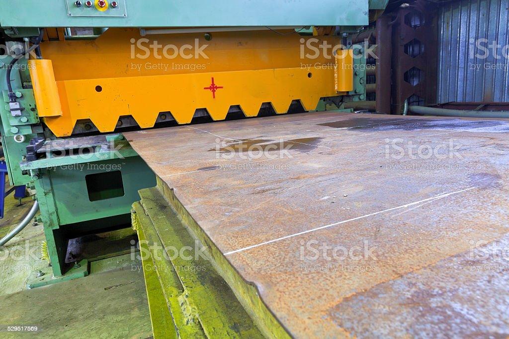 shear guillotine machine for metal sheets stock photo