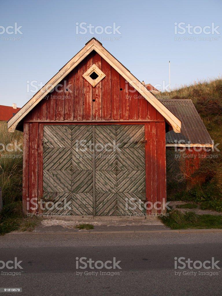 Shed in Loenstrup, Denmark stock photo