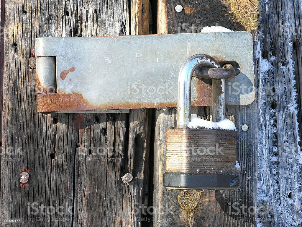 Shed Lock royalty-free stock photo