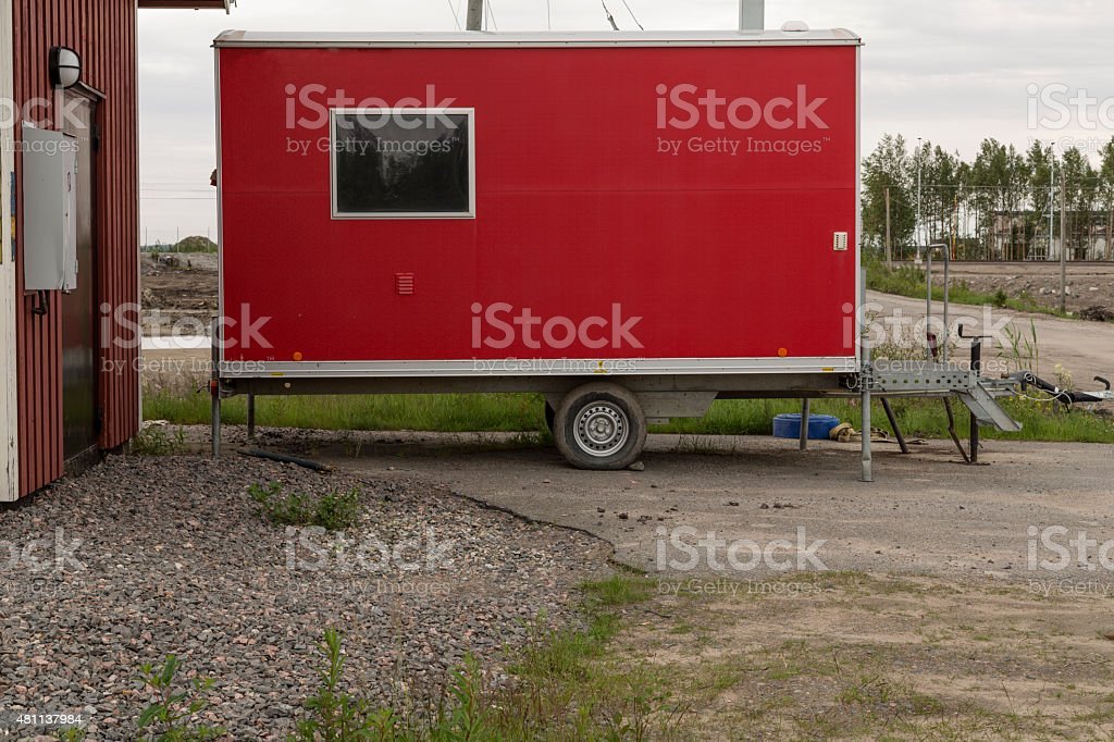 Shed on wheels royalty-free stock photo