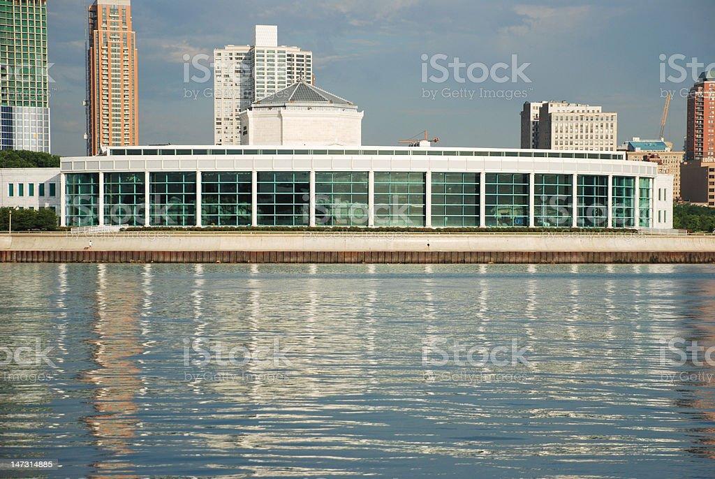 Shedd Aquarium, downtown Chicago stock photo