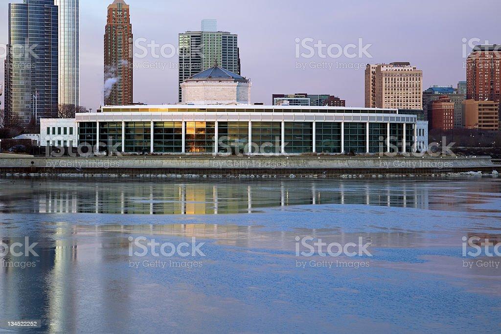 Shedd Aquarium in Chicago stock photo