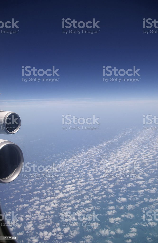 Sheep clouds royalty-free stock photo