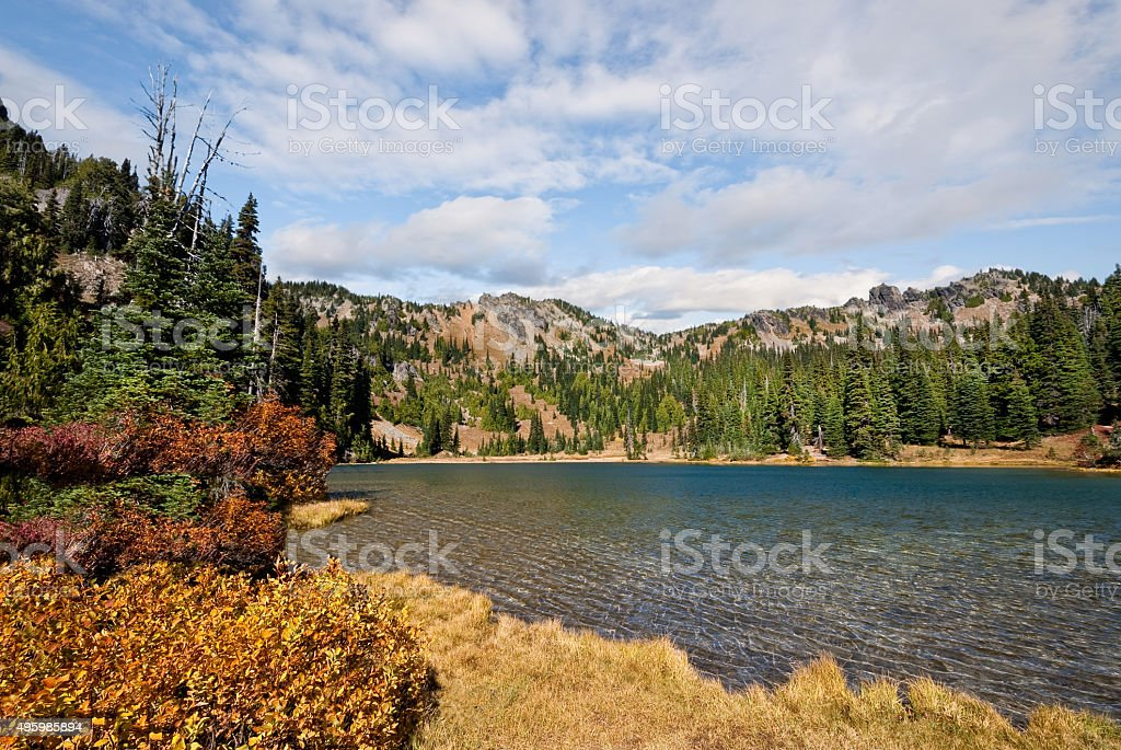 Sheep Lake in the Fall stock photo