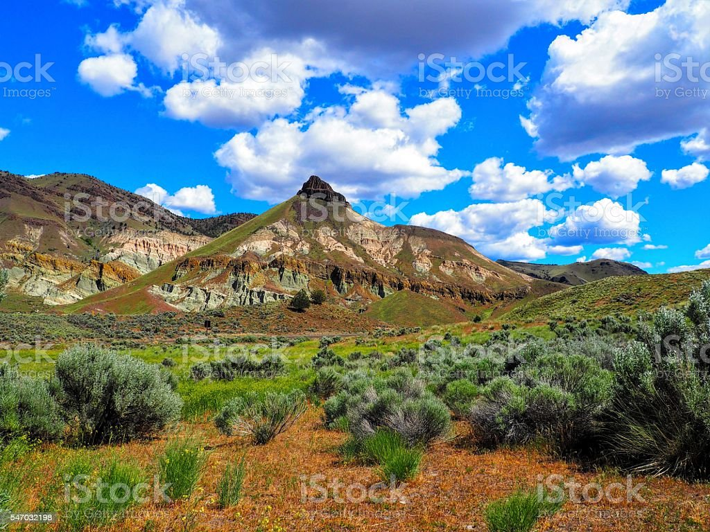 Sheep Rock Unit John Day Fossil Beds stock photo