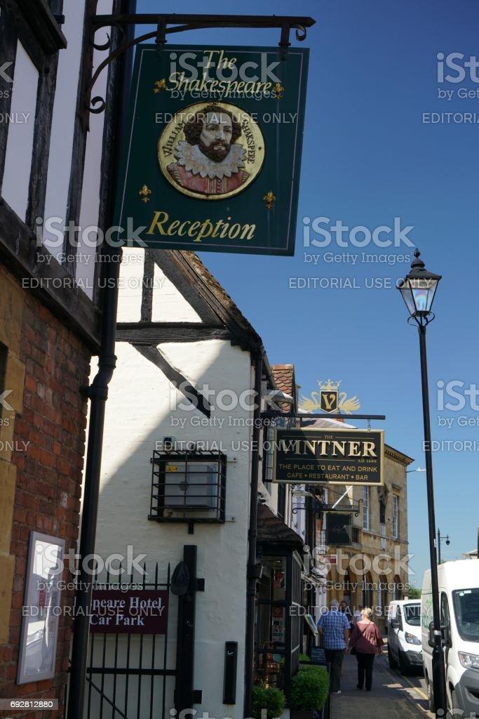 Sheep street of Stratford-upon-Avon stock photo