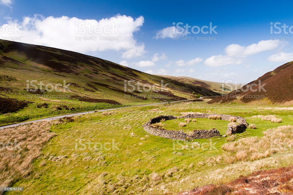 Sheepfold stock photo