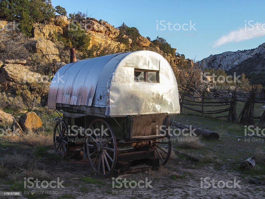 Sheepherder's Wagon in Dinosaur National Monument stock photo