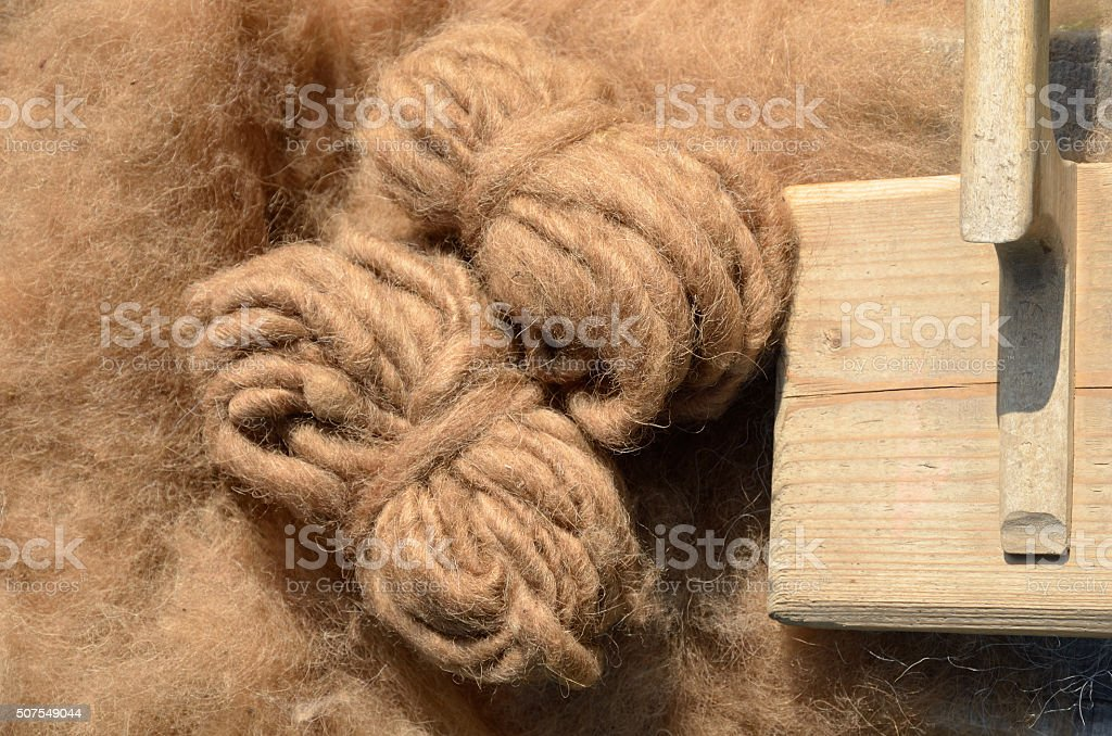 Sheep's wool stock photo
