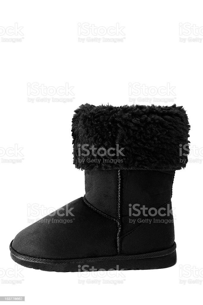 Sheepskin boots stock photo
