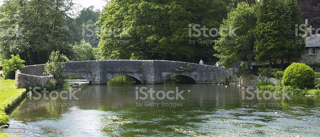Sheepwash Bridge Panoramic. royalty-free stock photo