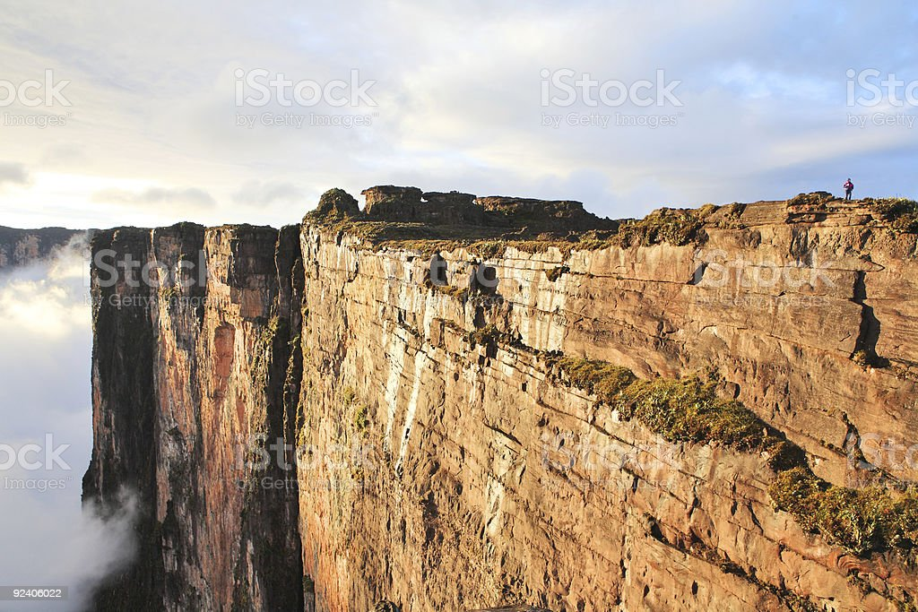 Sheer cliffs of Mount Roraima stock photo
