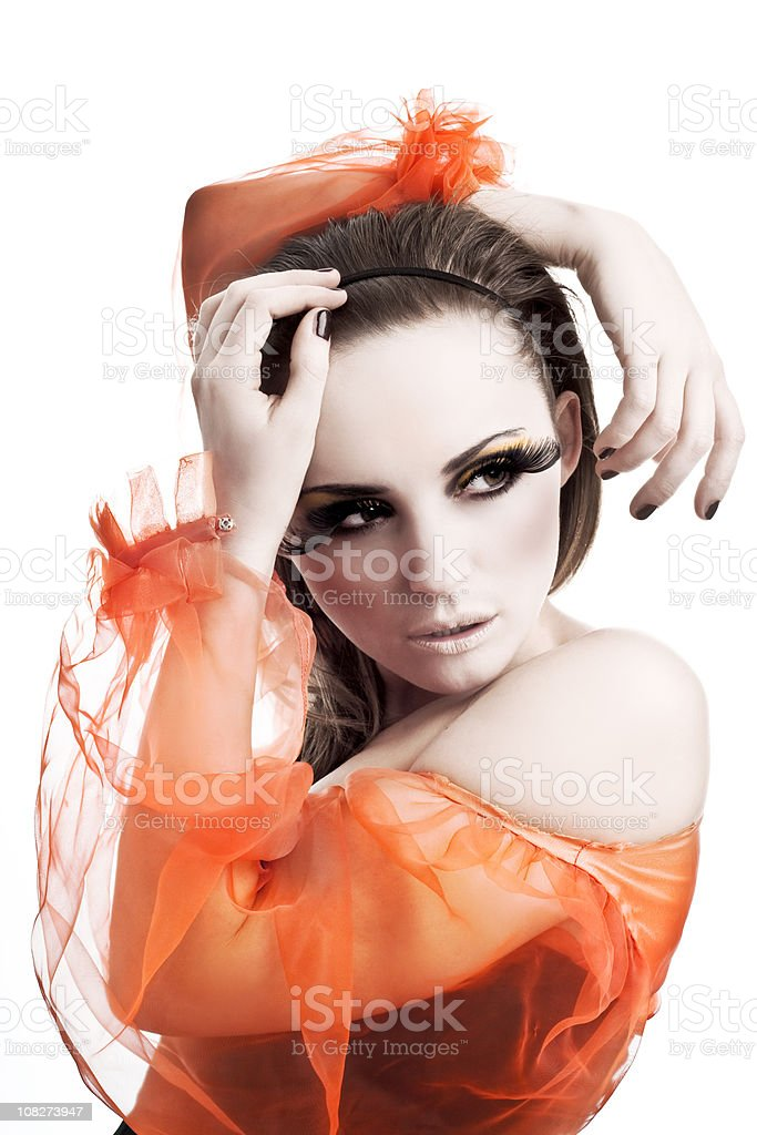 Sheer Elegance, Young Woman Portrait royalty-free stock photo