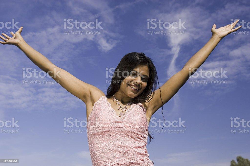 sheer happyness royalty-free stock photo