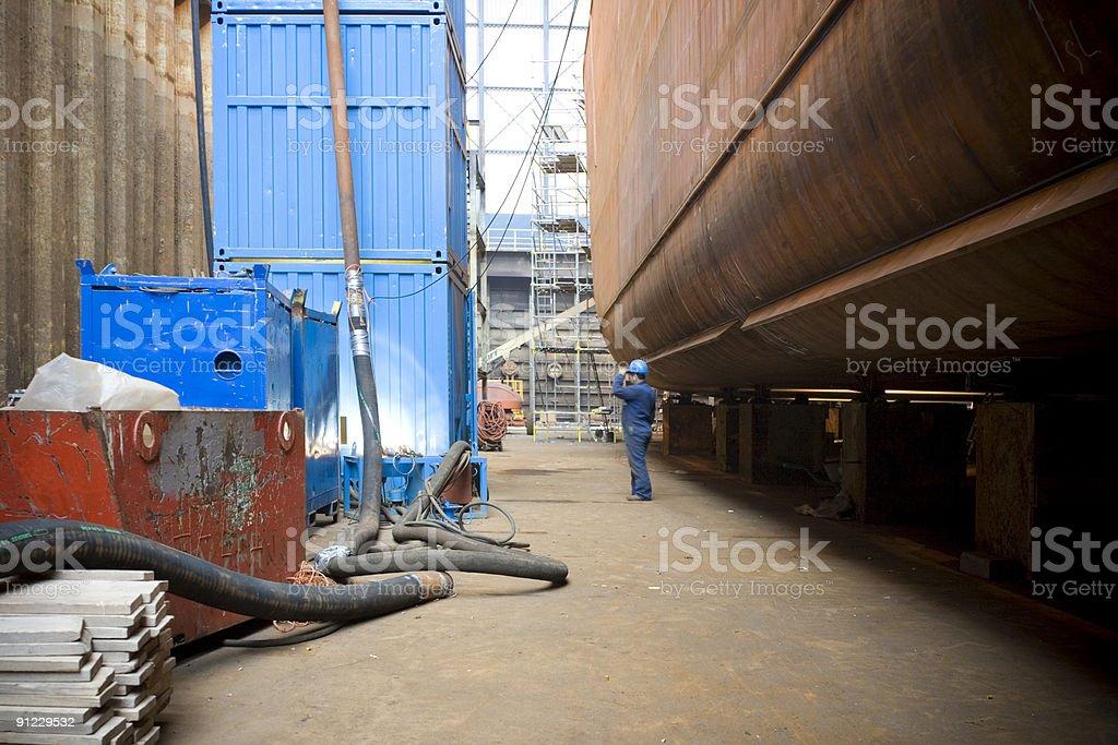 Sheer sized drydock royalty-free stock photo