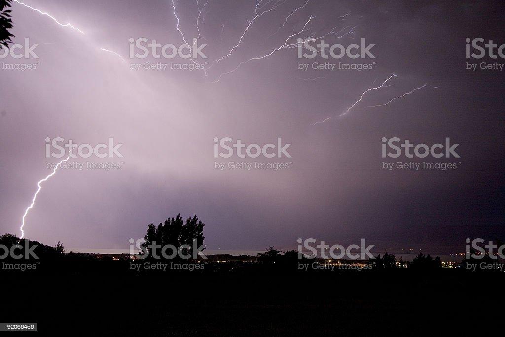 Sheet Lightning stock photo