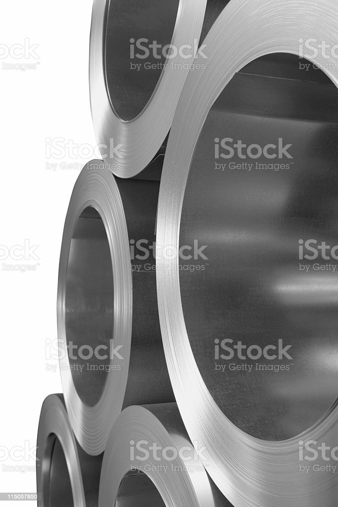 sheet metal rolls stock photo