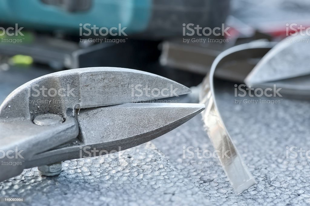 Sheet metal scissors royalty-free stock photo