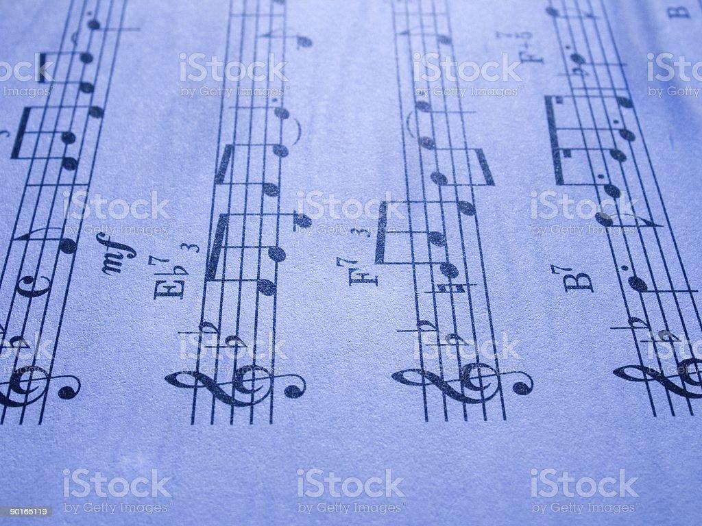 Sheet music 10 royalty-free stock photo