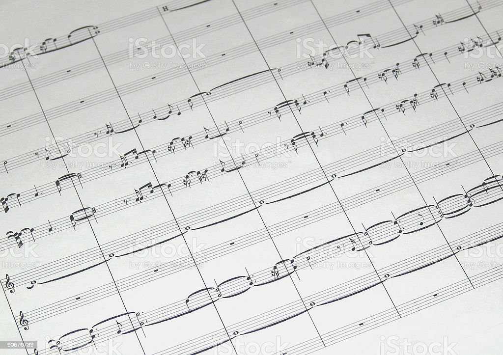sheet music  101 royalty-free stock photo