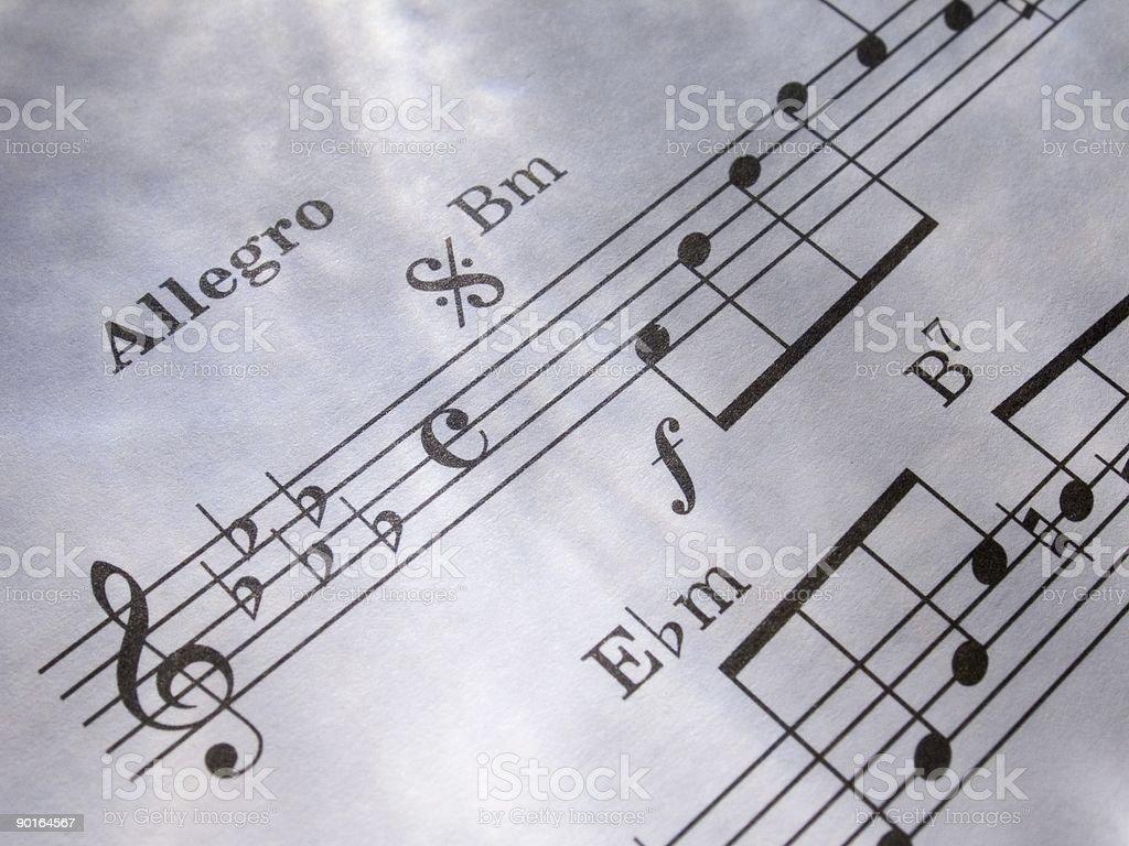 Sheet music 4 royalty-free stock photo