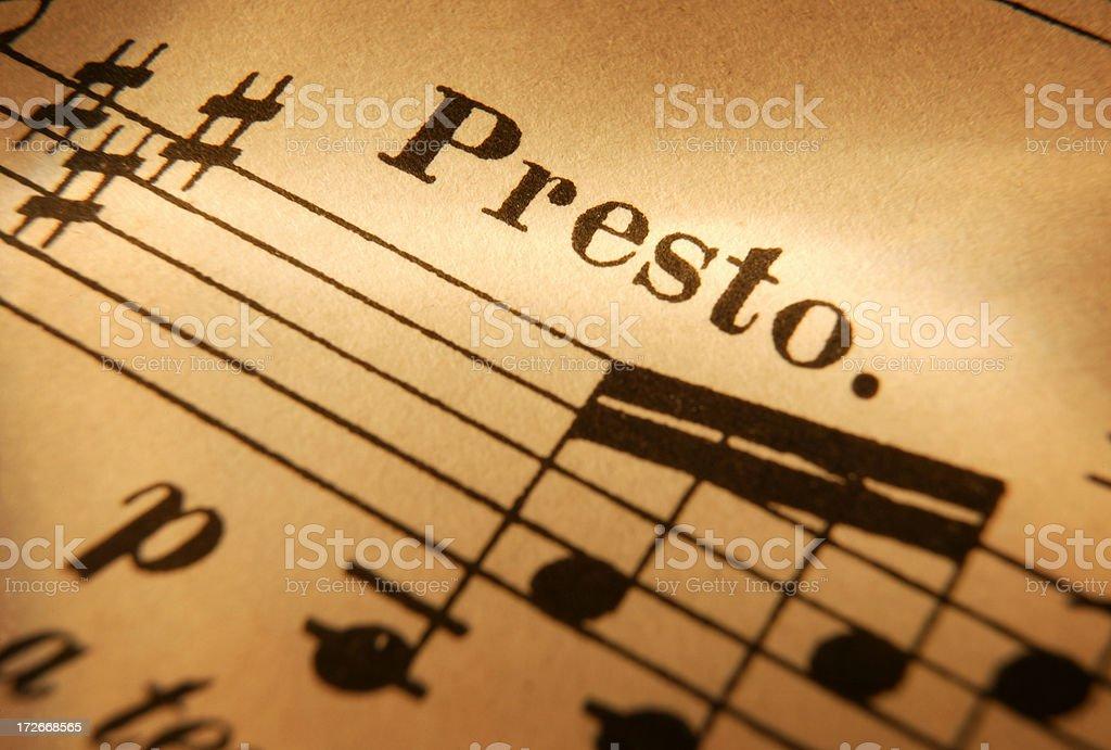 Sheet Music 5 royalty-free stock photo