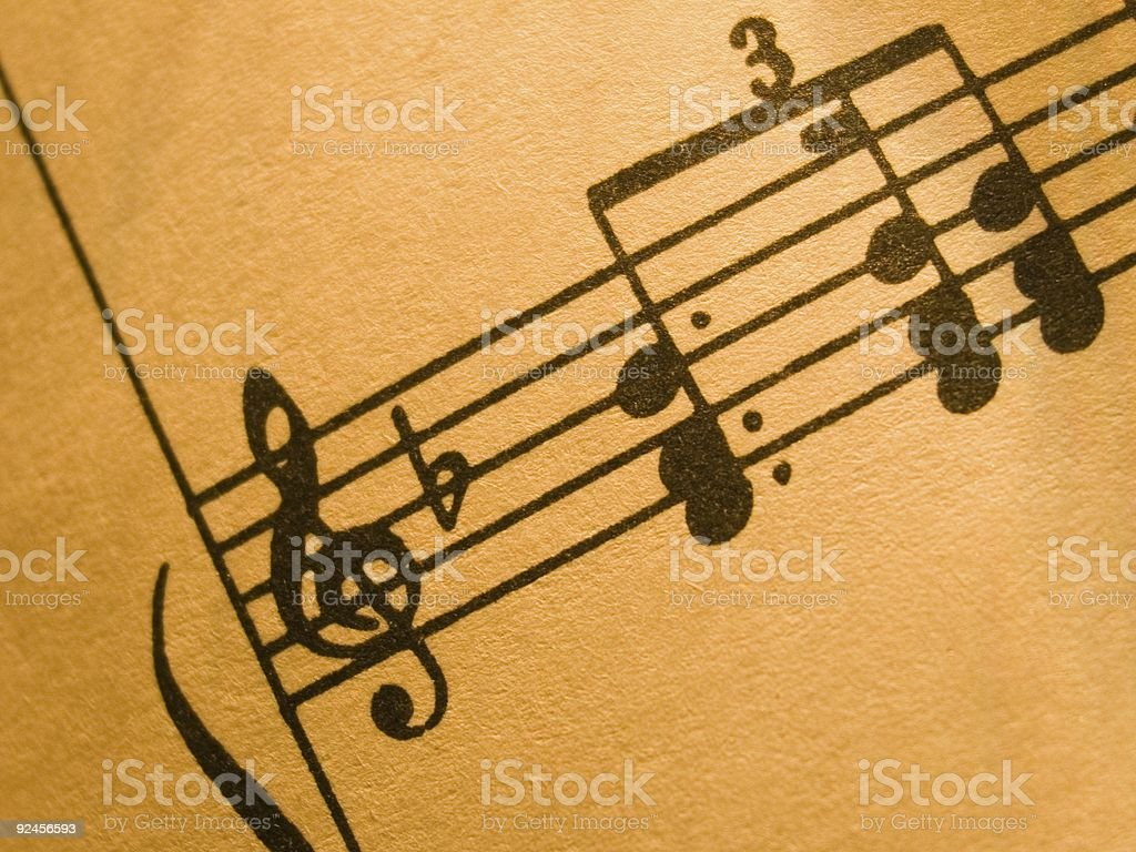 Sheet music 5 royalty-free stock photo