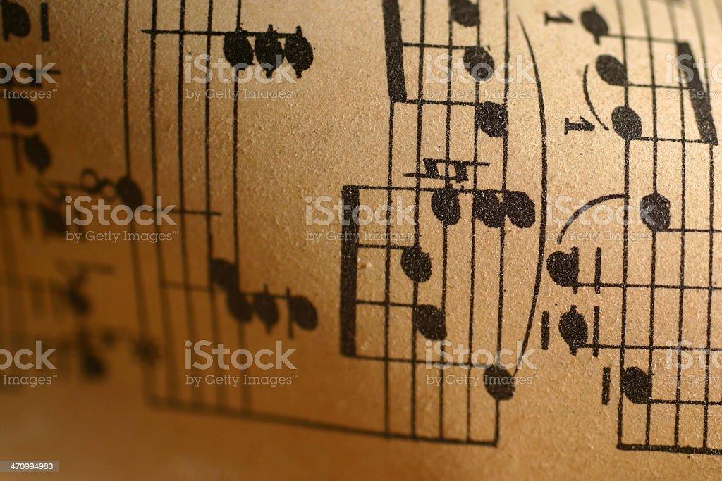 Sheet Music Close-Up royalty-free stock photo