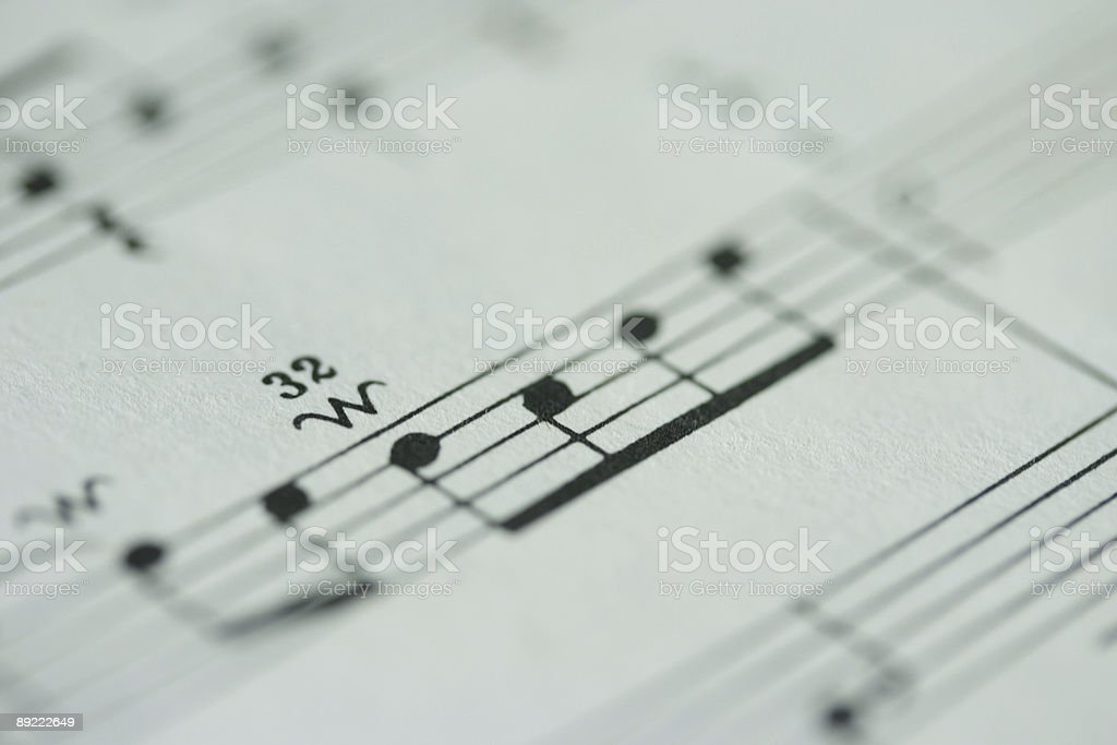 Sheet Music Close-up stock photo