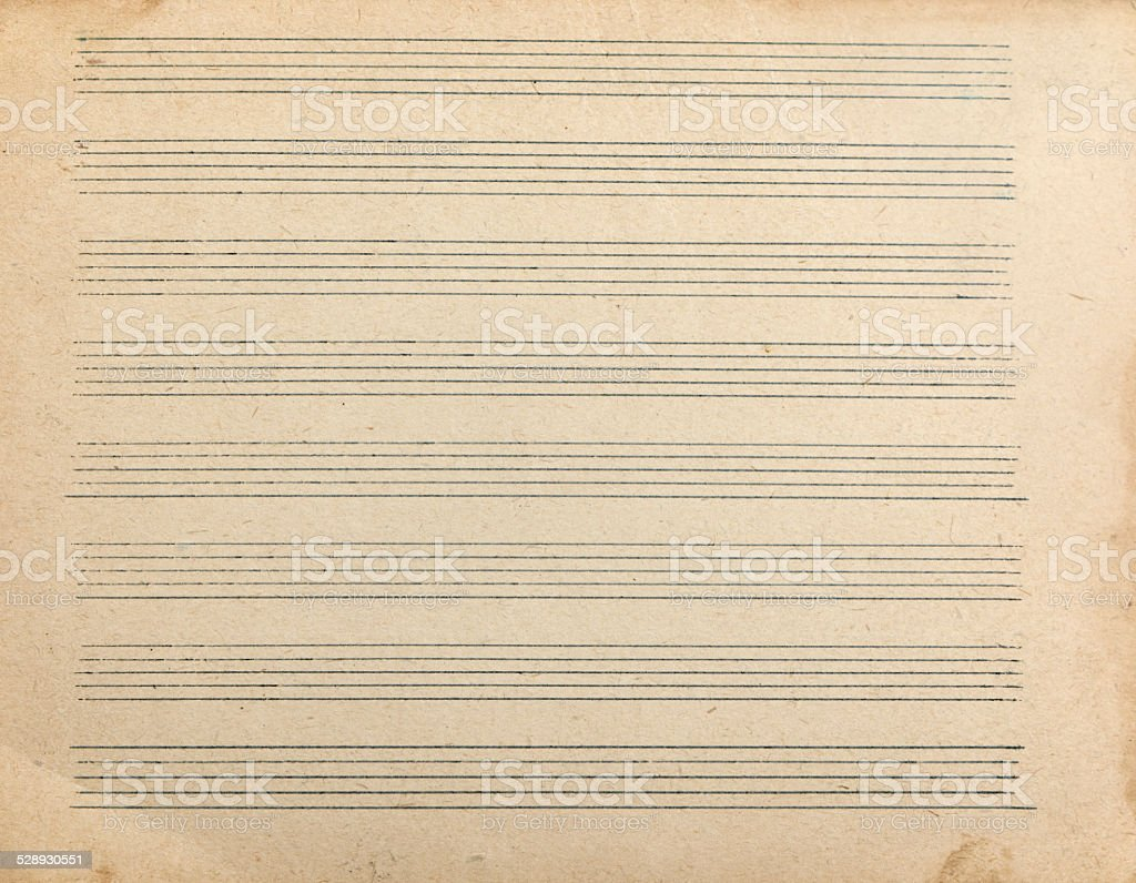 Sheet music for musical notes stock photo
