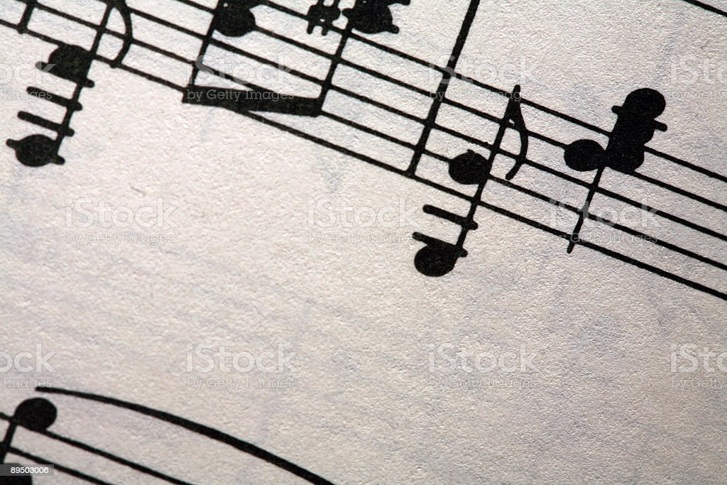 Sheet Music for Piano royalty-free stock photo