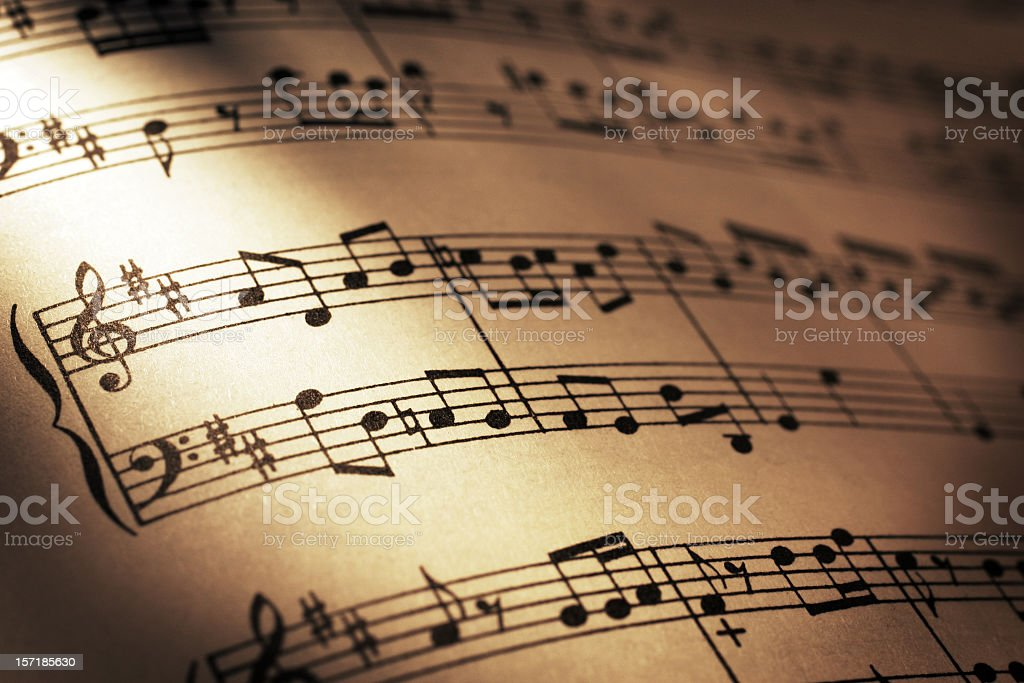 Sheet Music royalty-free stock photo