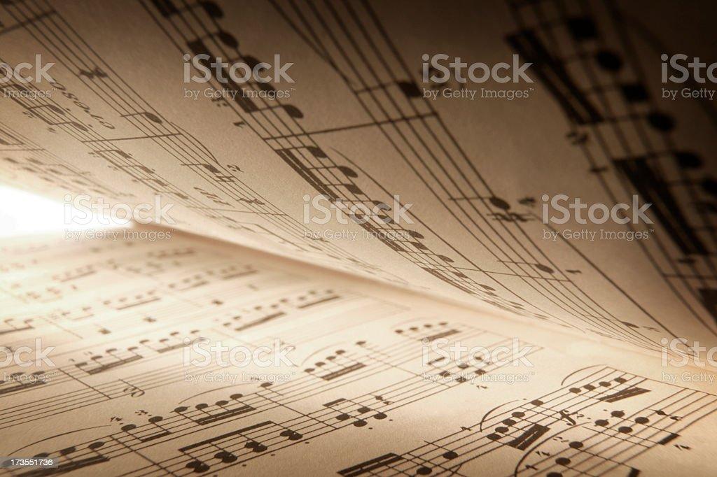 Sheet Music royalty-free stock photo