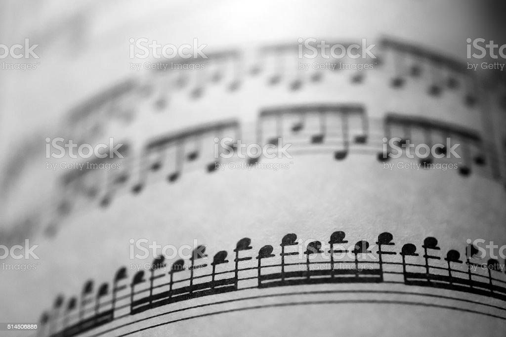 Partition musicale photo libre de droits